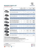 peugeot Price List 2-9-2017 Page 1