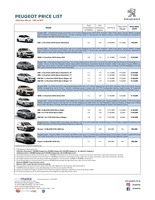 peugeot Price List 7-6-2017 Page 1