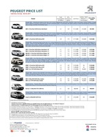 peugeot Price List 9-21-2017 Page 1