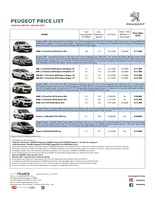 peugeot Price List 11-10-2017 Page 1