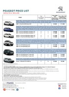 peugeot Price List 6-6-2018 Page 1