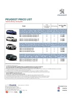peugeot Price List 8-9-2018 Page 1