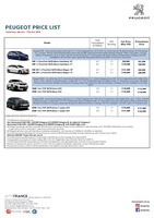 peugeot Price List 10-5-2018 Page 1