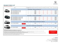 peugeot Price List 9-11-2020 Page 1