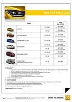 renault Price List 1-30-2015 Page 1