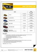 renault Price List 3-19-2015 Page 1