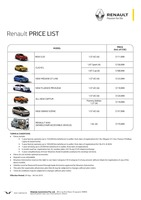renault Price List 9-28-2015 Page 1