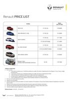 renault Price List 2-5-2016 Page 1