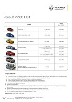 renault Price List 4-26-2016 Page 1