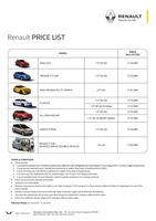 renault Price List 6-23-2016 Page 1