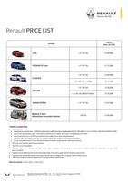 renault Price List 11-26-2016 Page 1