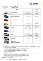 renault Price List 1-19-2017 Page 1