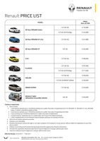 renault Price List 2-25-2017 Page 1
