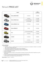 renault Price List 5-12-2017 Page 1