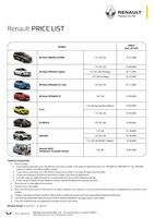 renault Price List 6-21-2017 Page 1