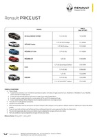 renault Price List 8-10-2017 Page 1