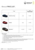 renault Price List 11-10-2017 Page 1