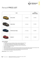 renault Price List 2-8-2018 Page 1