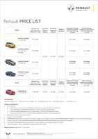 renault Price List 4-5-2018 Page 1
