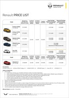 renault Price List 6-6-2018 Page 1