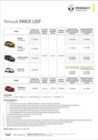 renault Price List 8-8-2018 Page 1