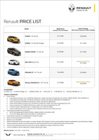 renault Price List 10-7-2018 Page 1