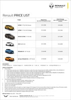 renault Price List 12-7-2018 Page 1