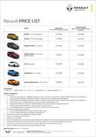 renault Price List 2-11-2019 Page 1