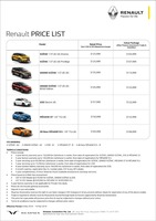 renault Price List 3-8-2019 Page 1