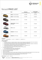 renault Price List 4-18-2019 Page 1