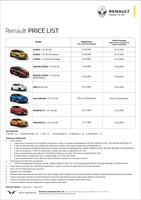 renault Price List 8-22-2019 Page 1