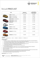 renault Price List 10-11-2019 Page 1
