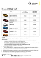 renault Price List 1-23-2020 Page 1