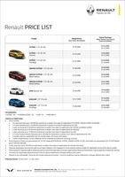 renault Price List 11-21-2020 Page 1