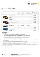 renault Price List 1-7-2021 Page 1