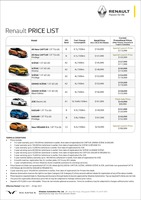 renault Price List 4-13-2021 Page 1