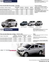 ssangyong Price List 9-28-2015 Page 1