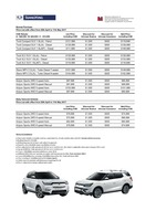 ssangyong Price List 4-28-2017 Page 1