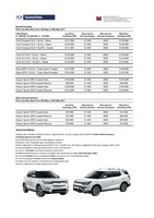 ssangyong Price List 5-12-2017 Page 1