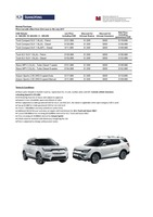 ssangyong Price List 6-21-2017 Page 1