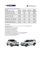 ssangyong Price List 10-5-2017 Page 1