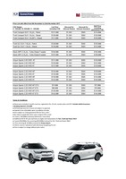 ssangyong Price List 11-10-2017 Page 1