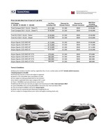 ssangyong Price List 1-18-2018 Page 1