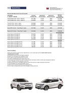 ssangyong Price List 6-6-2018 Page 1