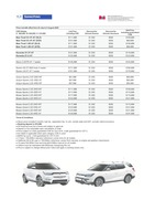 ssangyong Price List 7-23-2020 Page 1
