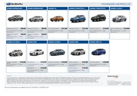 subaru Price List 2-22-2018 Page 1