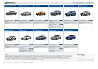 subaru Price List 1-17-2019 Page 1