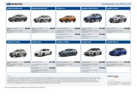 subaru Price List 8-8-2019 Page 1