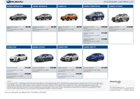 subaru Price List 3-19-2020 Page 1