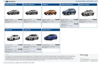 subaru Price List 9-10-2020 Page 1